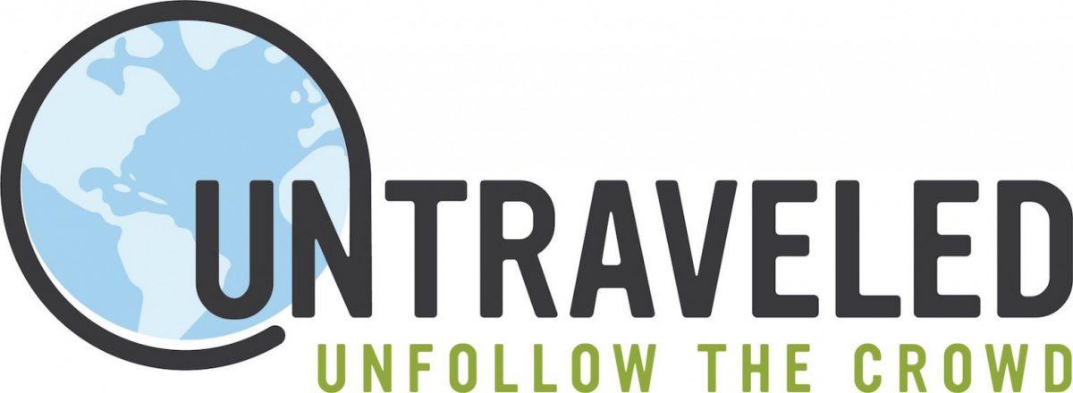 Untraveled logo and slogan
